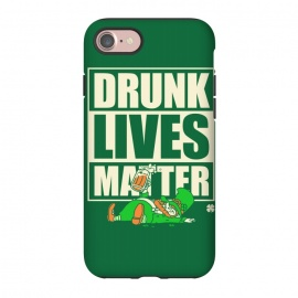 iPhone 7 StrongFit Drunk Lives Matter by Vó Maria (drunk,lives,matter,leprechaun,shenanigans,shamrock,irish,ireland,beer, label)