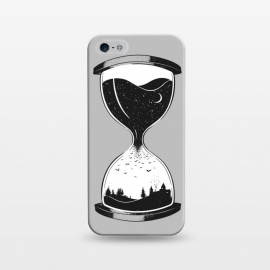 iPhone 5/5E/5s  As Night Falls by  (night,day,stars,moon,space,time,hourglass,bats,black,white,dark,outdoors,nature)