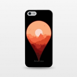iPhone 5/5E/5s  Destination Unknown by  (outdoors,travel,adventure,nature,roadtrip,sun,sky,mountain,mountains,van,vector,minimal,map,sunset,combi,silhoutte,geography)