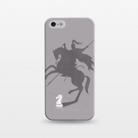 iPhone 5/5E/5s  Think Big! by Grant Stephen Shepley (chess,parody,knight,game,gray,grey,horse,roman,shadow,concept,clever,motivational,inspirational)