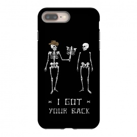 Got Your Back by Grant Stephen Shepley (skeleton,parody,pun,funny,joke,humour,words,slogan,dark,black,white)