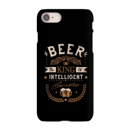 iPhone 7 SlimFit Oh Beer by Grant Stephen Shepley (beer,alcohol,drinking,funny,joke,parody,humour,words,text,slogan,draft,bar,pub,king)