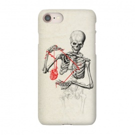 iPhone 7 SlimFit I need a heart to feel complete by 38 Sunsets (skull,bones,skeleton,heart,blood,veins,drawing,tattoo,scary, frightening, fearful, dreadful,dead,undead,alive,zombie,horror,love,life)