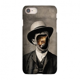 iPhone 7 SlimFit Gentleman Fox by 38 Sunsets (fox,drawing,photoreal,hat,man,surreal,fashion,texture,photo,human,portrait,wild,mystery,orange,sepia,chic,shy,ghost,spirit,character, nature, trait, feature, temper, type,figure,persona)