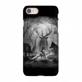iPhone 7 SlimFit Concerto by 38 Sunsets (music,classic music,cello,wolf,fox,deer,owl,bird,forest,woods,ghost,ghosts,trees,surreal,fantasy,fog,animal,spirit,spirite of the forest,concert,sound,magic,photography,mixed-media,black and white,kid,child,night,moonlight,moon,dark,light)