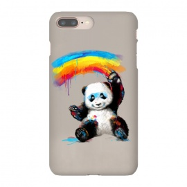 Giant Painter by 38 Sunsets (panda,cute,giant panda,bear,rainbow,painting,watercolor,happy,smile,smiling,smiley,black and white,black,white,colorful,black & white,kid,child)