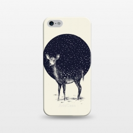 iPhone 5/5E/5s SlimFit Snow Flake by Daniel Teixeira (snow,deer,animal,landscape,winter)