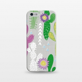 iPhone 5/5E/5s  Neutral Cakti by Kimrhi Studios (Cactus,cacti,succulent,geometric)