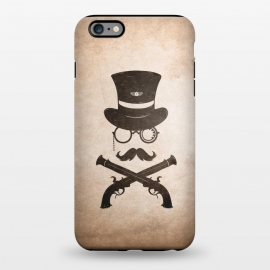iPhone 6/6s plus StrongFit Steampunk by Grant Stephen Shepley (Steampunk,retro,gun,badge,monacle,minimal,western,cowboy,gentleman,man)
