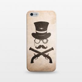 iPhone 5/5E/5s  Steampunk by  (Steampunk,retro,gun,badge,monacle,minimal,western,cowboy,gentleman,man)