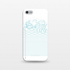 iPhone 5/5E/5s  My Mind's at sea by Grant Stephen Shepley (sea,ship,illusion,minimal,concept,lines,sailor,waves,dream,dreamy,vector)