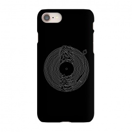 iPhone 7 SlimFit Soundscape by Grant Stephen Shepley (music,band,bands,80's,joy division,ian curtis,song,classic,mountain,lines,black,white,vinyl,parody,LP,record)
