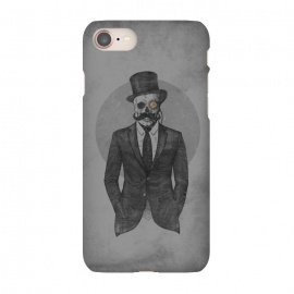 iPhone 7 SlimFit The Gentleman by Grant Stephen Shepley (moustache,retro,skeleton,sketch,suit,western,steampunk)