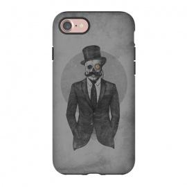 iPhone 7 StrongFit The Gentleman by Grant Stephen Shepley (moustache,retro,skeleton,sketch,suit,western,steampunk)