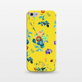iPhone 5/5E/5s  Floral Shower II by Uma Prabhakar Gokhale (watercolor, other, pattern, surrealism, floral, nature, bloom, flourish, tropical, exotic, blossom, flowers, color pop, vibrant)