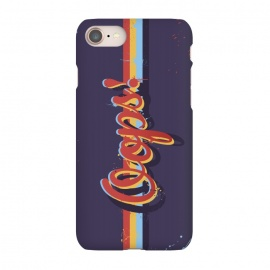 iPhone 8/7  Oops! by Dellán (oops,mess,typographic,text,retro,80´s,purple,typography design,hipster,fresh,summer,spring,fashion,colorful,ink,paint,painter,artist,art,good vibes,trend)