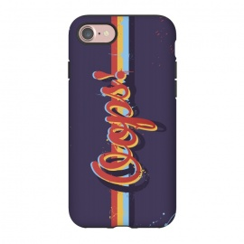 iPhone 8/7  Oops! by Dellán (oops,mess,typographic,text,retro,80's,purple,typography design,hipster,fresh,summer,spring,fashion,colorful,ink,paint,painter,artist,art,good vibes,trend)
