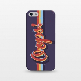 iPhone 5/5E/5s  Oops! by Dellán (oops,mess,typographic,text,retro,80's,purple,typography design,hipster,fresh,summer,spring,fashion,colorful,ink,paint,painter,artist,art,good vibes,trend)