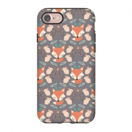 iPhone 8/7  Foxes and bunnies by Maria Jose Da Luz