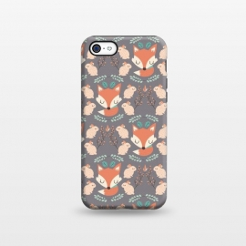 iPhone 5C  Foxes and bunnies by Maria Jose Da Luz
