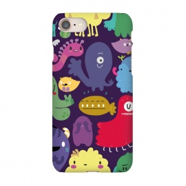 iPhone 7 SlimFit Colorful monsters by Maria Jose Da Luz (monsters,creatures,colors,girls,teens,happy)