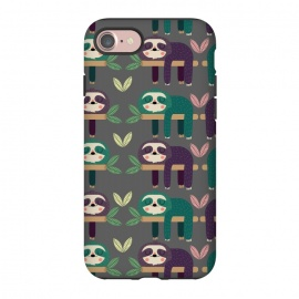 iPhone 7 StrongFit Sloths by Maria Jose Da Luz (sloths ,pattern,happy,cute)