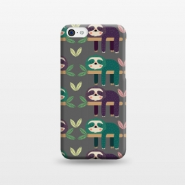 iPhone 5C  Sloths by Maria Jose Da Luz (sloths ,pattern,happy,cute)