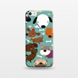 iPhone 5C  Happy dogs by Maria Jose Da Luz