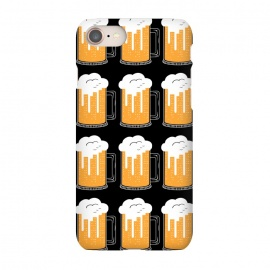 iPhone 7 SlimFit CITY BEER PATTERN by Coffee Man (beer,city,cerveza,landscape,glasser,birra,bar,drink)