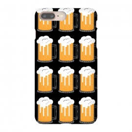 iPhone 8/7 plus  CITY BEER PATTERN by Coffee Man (beer,city,cerveza,landscape,glasser,birra,bar,drink)