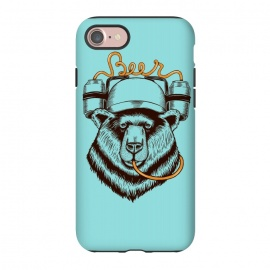 iPhone 7 StrongFit BEAR LOVE BEER by Coffee Man (bear, beer,funny,nature,wild,humor,vintage,drink,birra,bar,happy)