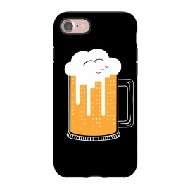 iPhone 7 StrongFit CITY BEER by Coffee Man (city, beer,birra,landscape,urbarn,funny,bar,cerveza,cloud,birds,building,glasses)
