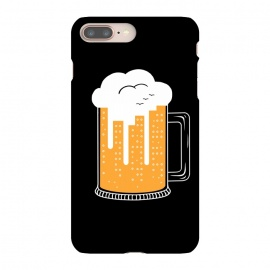 iPhone 8/7 plus  CITY BEER by Coffee Man (city, beer,birra,landscape,urbarn,funny,bar,cerveza,cloud,birds,building,glasses)