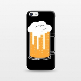 iPhone 5C  CITY BEER by Coffee Man (city, beer,birra,landscape,urbarn,funny,bar,cerveza,cloud,birds,building,glasses)