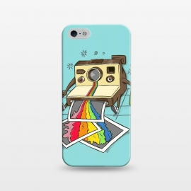 iPhone 5/5E/5s  DRUNK CAMERA GREEN by  (camera, photographer,photo,vintage,polaroid,drunk,vomite,funny,humor,rainbow,designer,soacial media)