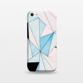 iPhone 5C  Geometric Washout by Uma Prabhakar Gokhale (watercolor, other, pattern, abstract, expressionism, geometric, geometrical, pastelpink, blue, moroccan, exotic)