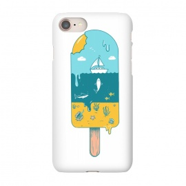 iPhone 7 SlimFit Melted Landscape by Coffee Man (ice cream,beach,sea,summer,vacation,spring bread,melted,animal,shark,sand,sun,boat,hot)
