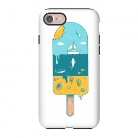 iPhone 7 StrongFit Melted Landscape by Coffee Man (ice cream,beach,sea,summer,vacation,spring bread,melted,animal,shark,sand,sun,boat,hot)