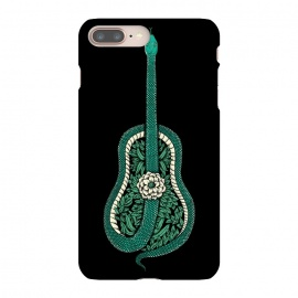 iPhone 8/7 plus  Snake Guitar by Coffee Man (guitar,snake,music,floral,nature,leave,funny,cool,wild,animal,reptil,serpiente,guitarra,green)