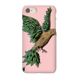 iPhone 7 SlimFit Wood Bird by Coffee Man (bird,nature,wood,tree,wild,planet,animal,cute,funny,humor,wtf,fly,vintage,retro)