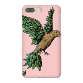 iPhone 8/7 plus  Wood Bird by Coffee Man (bird,nature,wood,tree,wild,planet,animal,cute,funny,humor,wtf,fly,vintage,retro)
