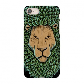 iPhone 7 SlimFit Wood Lion by Coffee Man (lion,animal,nature,wild,green,tree,wood,leave,king,strong,lion king,africa)