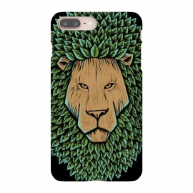 iPhone 8/7 plus  Wood Lion by Coffee Man (lion,animal,nature,wild,green,tree,wood,leave,king,strong,lion king,africa)