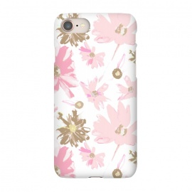 iPhone 7 SlimFit Daisy Daisy - Pink by Bettie * Blue (daisy,daisies,pink,pink flowers,floral,flowers,feminine,girly,girl,spring,sweet)