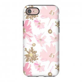 iPhone 7 StrongFit Daisy Daisy - Pink by Bettie * Blue (daisy,daisies,pink,pink flowers,floral,flowers,feminine,girly,girl,spring,sweet)