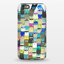 iPhone 6/6s plus StrongFit Snow? No Prob-Llama Alpaca My Board! by Amaya Brydon (alpacas,llamas,snow,snowboarding,boarders,sport,funny,pattern,illustration,extreme)