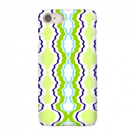 iPhone 7 SlimFit anthropology by Bettie * Blue (modern, geometric,green,blue,abstract,boho)