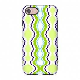 iPhone 7 StrongFit anthropology by Bettie * Blue (modern, geometric,green,blue,abstract,boho)