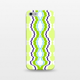 iPhone 5/5E/5s  anthropology by Bettie * Blue (modern, geometric,green,blue,abstract,boho)