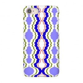iPhone 7 SlimFit Travels by Bettie * Blue (exotic,Indian,moroccan,geometric,abstract,pattern,bright colors,fun)